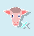 sticker sheep to fall asleep vector image