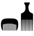 Two combs vector image