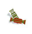 two paper cut candies christmas decoration element vector image