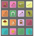 wild west flat icons 19 vector image