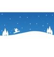 Winter Christmas people ski landscape vector image