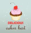 Stok vektor pink cake vector image