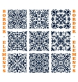 Tiles borders of floral damask ornament vector image