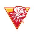 English Mastiff Dog Mongrel Head vector image vector image