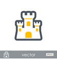 sand castle outline icon summer vacation vector image