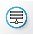 database icon symbol premium quality isolated vector image
