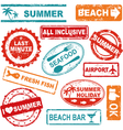 Summer rubber stamp collection vector image