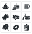 Bath Accessories Icons Set vector image