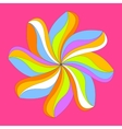 Abstract colorful flower design vector image