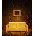 retro interior with couch vector image vector image