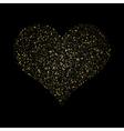 Heart Gold Texture glittering stars dust trail vector image