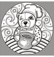 bear 4 vector image