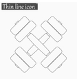 Heavy dumbbell icon Style thin line vector image