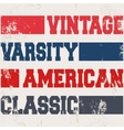 American classic stamp vector image