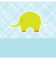Baby boy shower card with cute elephant vector image