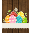 Background easter eggs vector image