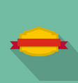 badge banner icon flat style vector image