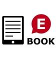 eBook symbol vector image