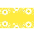Flower spring yellow backgrounds vector image