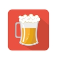 fresh beer drink icon vector image