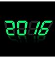 Green digital numbers 2016 vector image