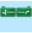 Stress or relax vector image
