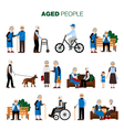 Old Age People Set vector image