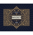Vintage shield for whiskey packing vector image
