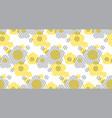 Geometry shape flowers vector image