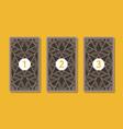 three tarot card spread reverse side vector image