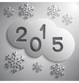 abstract grey circles for the New Year 2015 vector image
