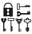 Key Set And Lock vector image
