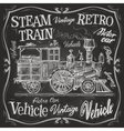 steam train logo design template vector image vector image