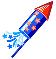 4th july blue rocket vector image