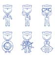 Cute sailors set vector image vector image