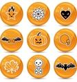 glossy Halloween icons vector image