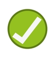 ok right correct icon vector image