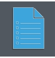 check list blue vector image