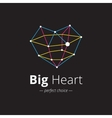 creative heart shape logo Crystal heart vector image