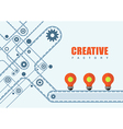 creative idea factory vector image