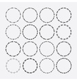Cute black circle arrow border patterns set vector image