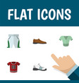 flat icon garment set of sneakers trunks cloth t vector image