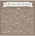 hand-drawn Doodle collection of coffee vector image