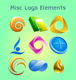 miscellaneous logo elements vector image