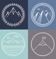 mountain logos vector image