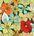 seamless pattern from many flowers vector image