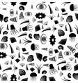 Shell Seamless Pattern Jellyfish Background vector image