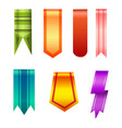 vertical banners realistic style collection vector image