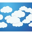 Blue and white background of clouds icon vector image
