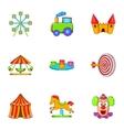 Swing icons set cartoon style vector image
